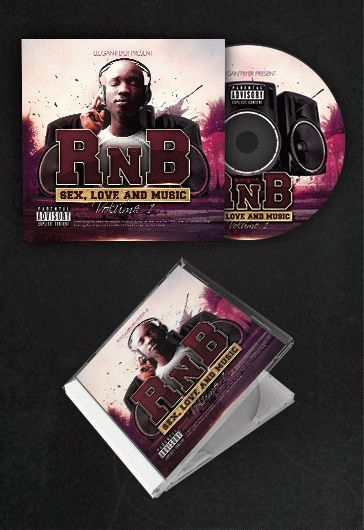 rnb music  u2013 free cd cover psd template  u2013 by elegantflyer