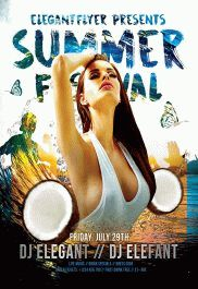 Summer Fest – Flyer PSD Template + Facebook Cover