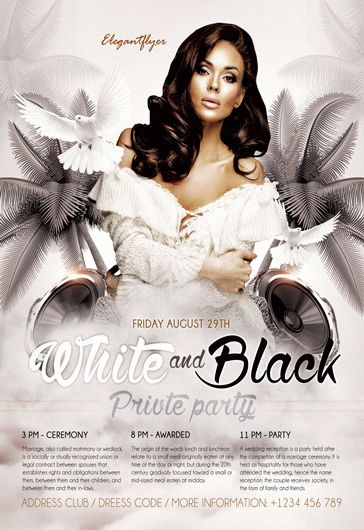 White And Black Design V02 – Flyer PSD Template