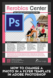How to Change a Photo in a Flyer Template in Adobe Photoshop (.PSD)