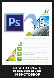 How to create Business flyer in Photoshop (.PSD)