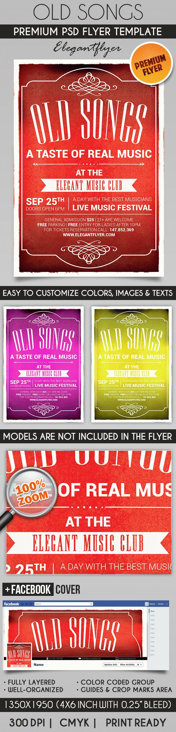 Old Songs – Flyer PSD Template