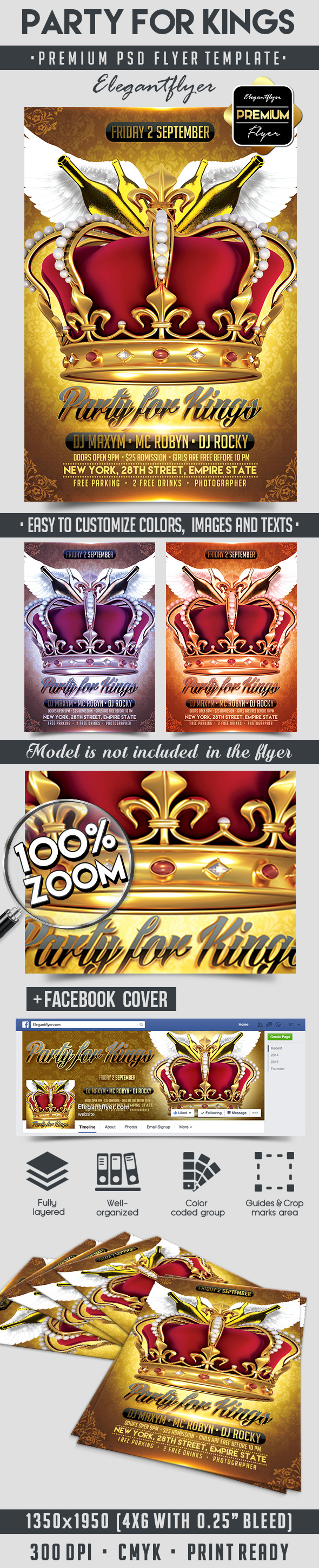 Party for Kings – Flyer PSD Template