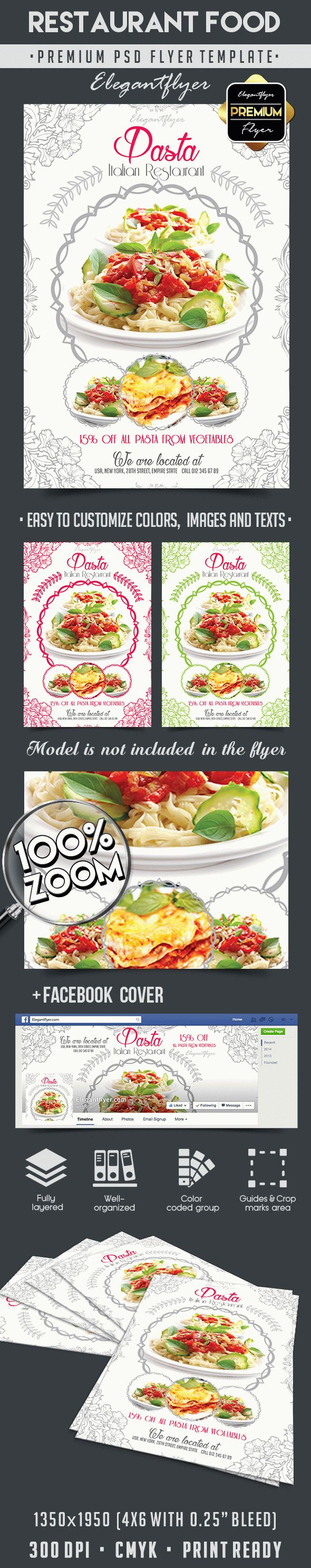Restaurant Food – Flyer PSD Template + Facebook Cover