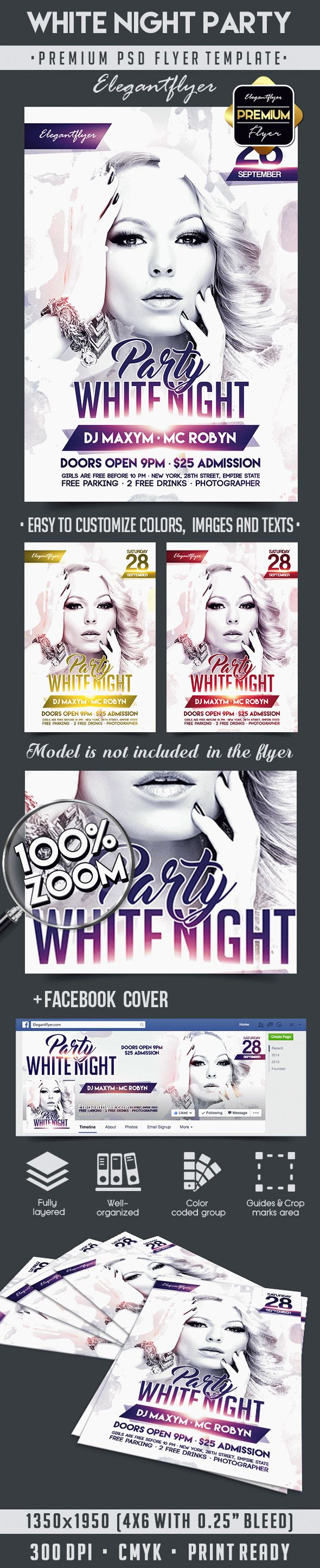 White Night Party – Flyer PSD Template