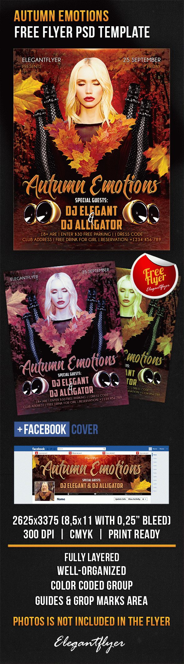 Autumn Emotions – Free Flyer PSD Template
