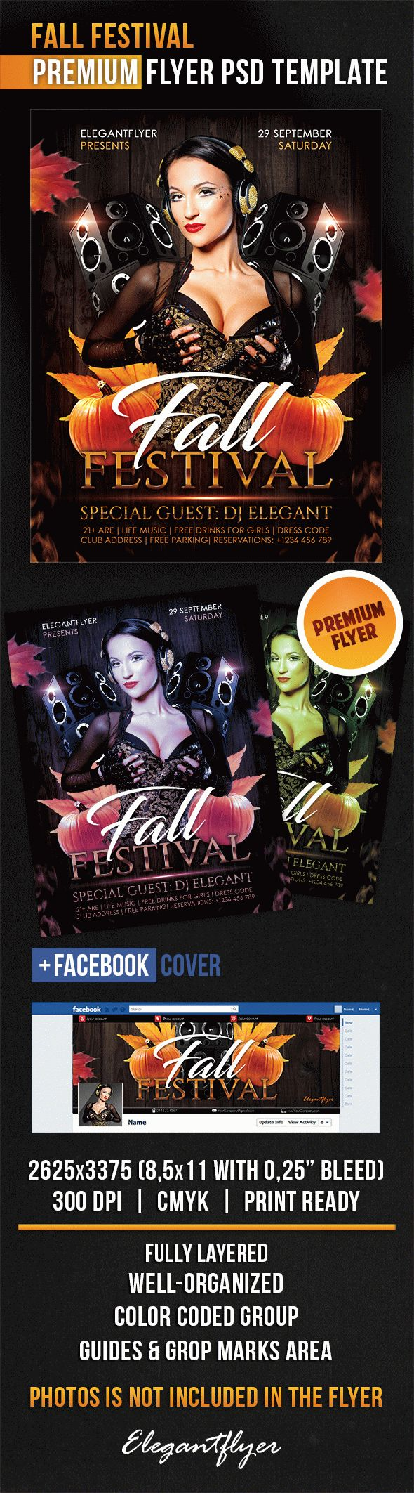 Fall Festival – Flyer PSD Template + Facebook Cover