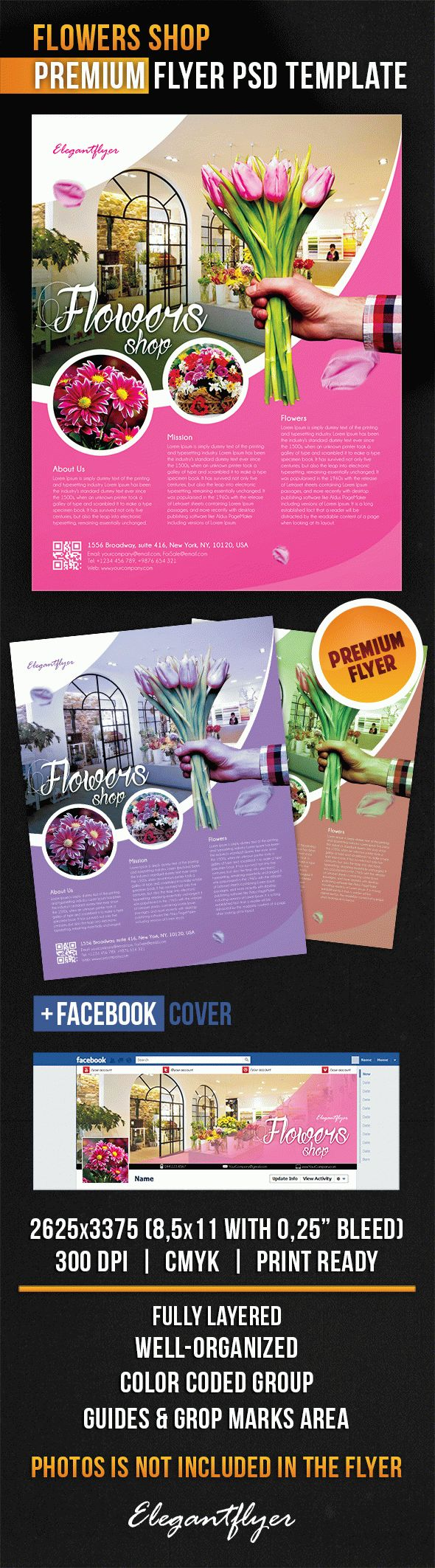 Flowers Shop – Flyer PSD Template