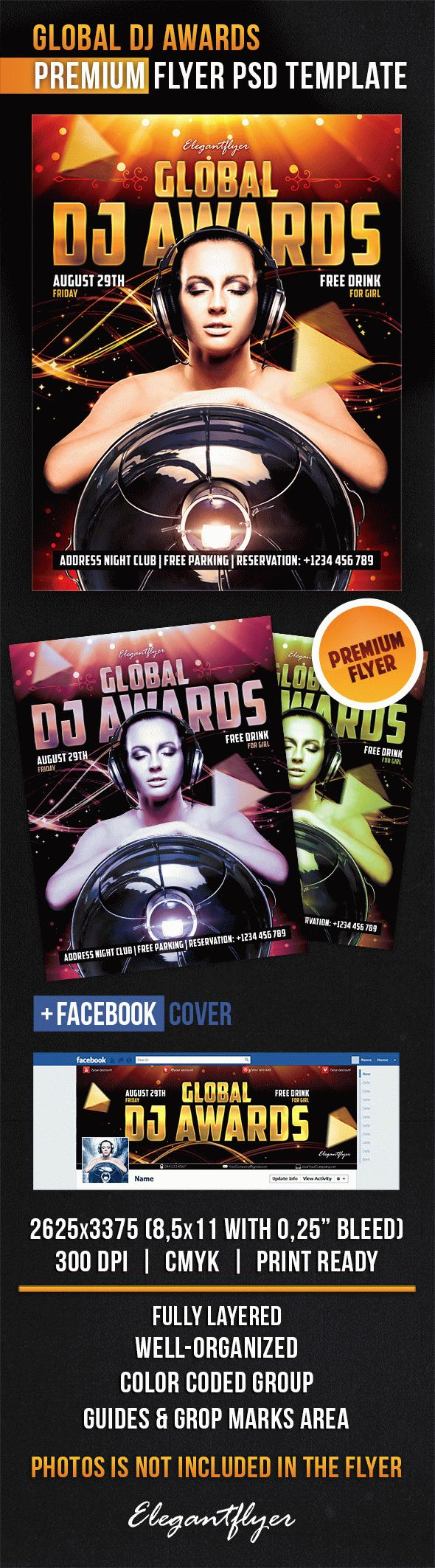 Global DJ Awards – Flyer PSD Template