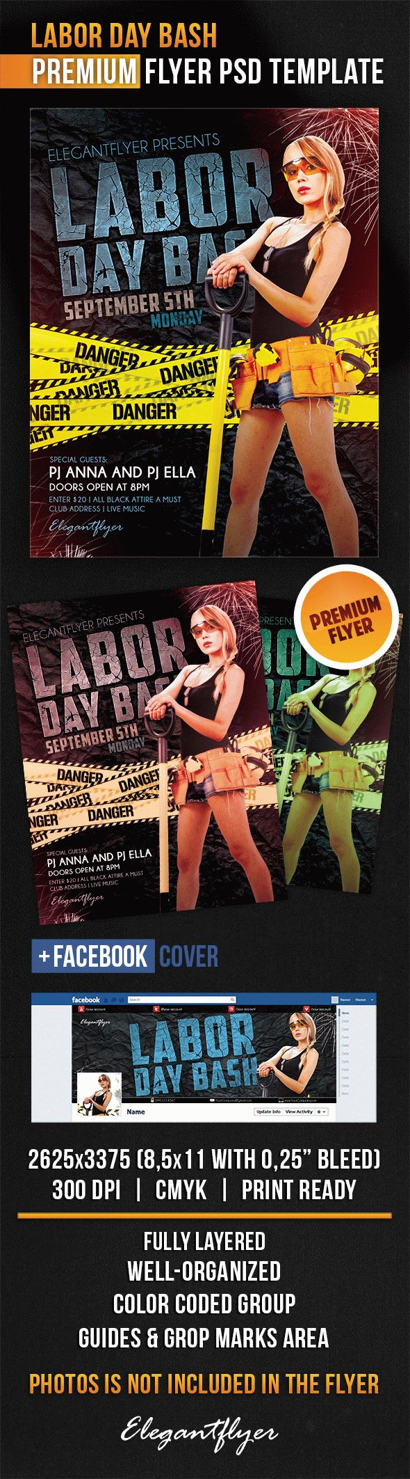 Labor Day Bash – Flyer PSD Template