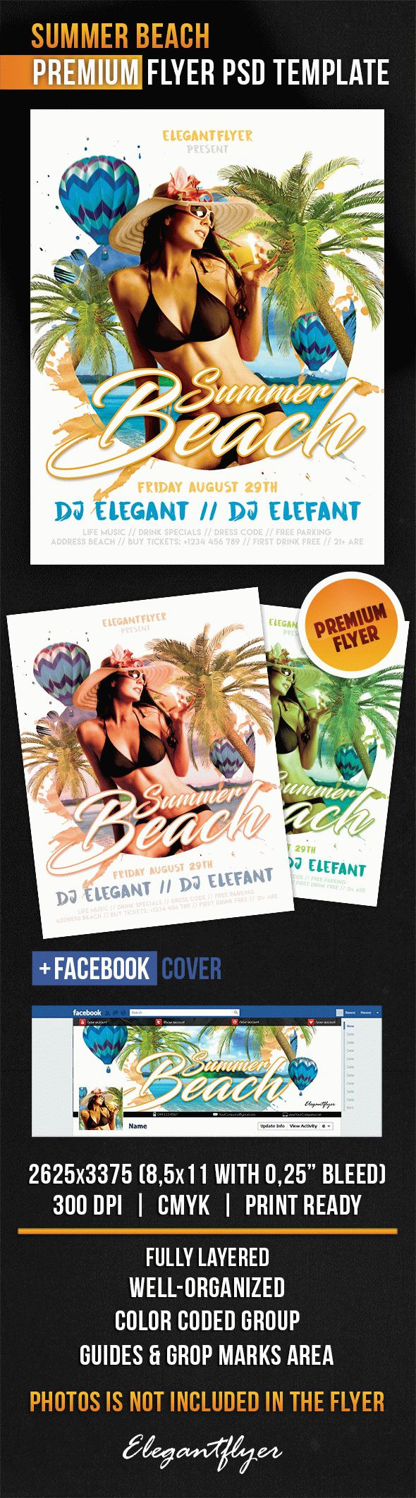 Summer Beach – Flyer PSD Template