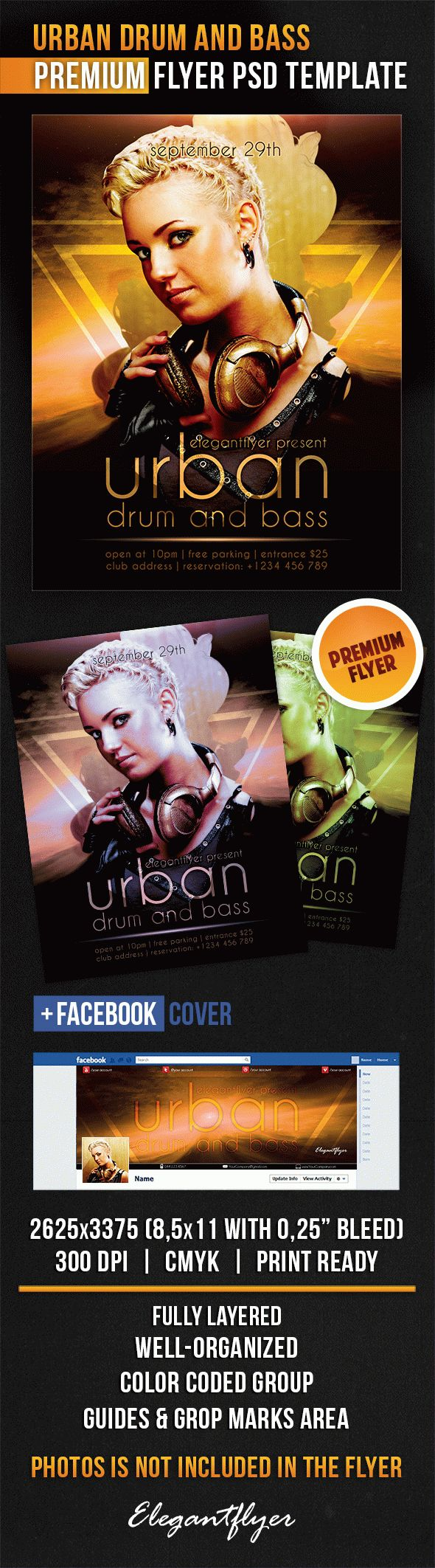 Urban Drum And Bass – Flyer PSD Template