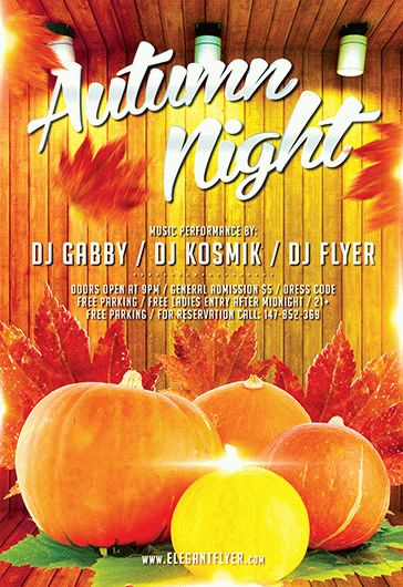 Autumn Night Flyer