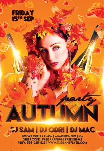 Autumn – Flyer PSD Template