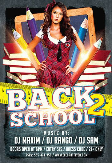 Back to School – Flyer PSD Template + Facebook Cover