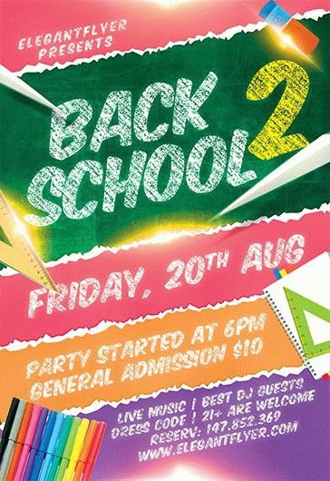 party for going back to school  u2013 by elegantflyer