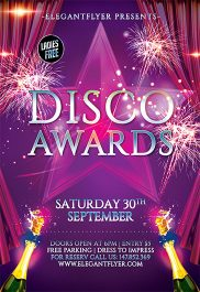 Disco Awards – Flyer PSD Template + Facebook Cover