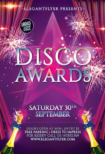 Disco Awards – Flyer PSD Template