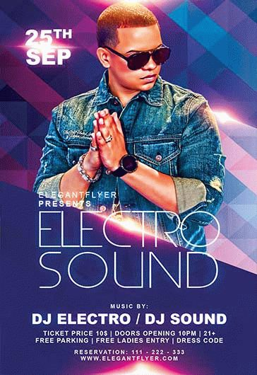 Electro Sound Party – Flyer PSD Template