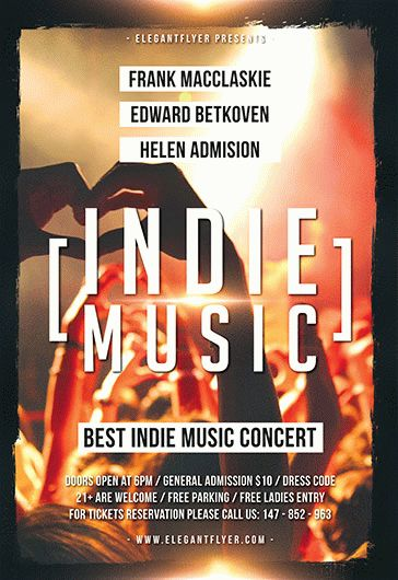 Indie Music – Flyer PSD Template
