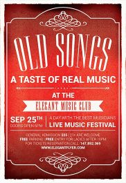 Old Songs – Flyer PSD Template + Facebook Cover