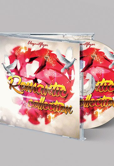 Romantic Collection – Free CD Cover PSD Template
