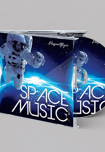 Space Music – Free CD Cover PSD Template