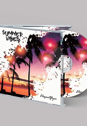 free summer vibes for cd cover template  u2013 by elegantflyer