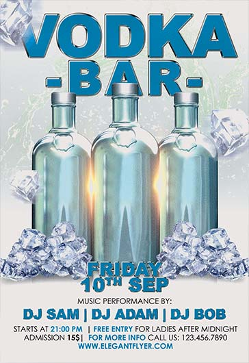 Vodka Bar – Flyer PSD Template