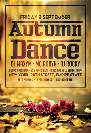 Autumn Dance – Free Flyer PSD Template + Facebook Cover