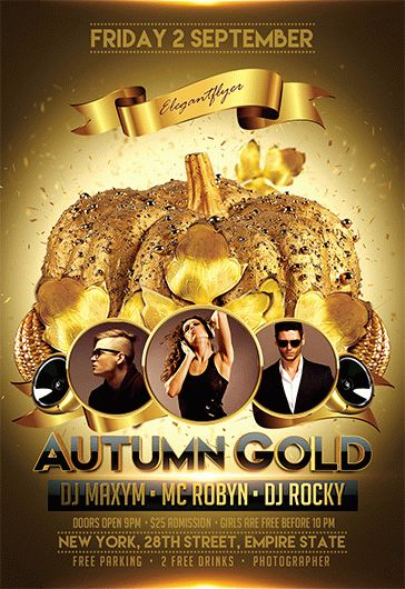 Autumn Gold – Flyer PSD Template