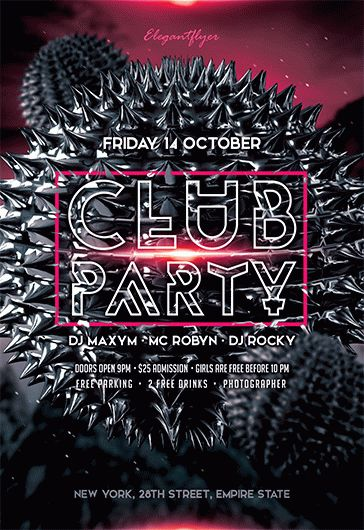 Club Party V02 – Flyer PSD Template