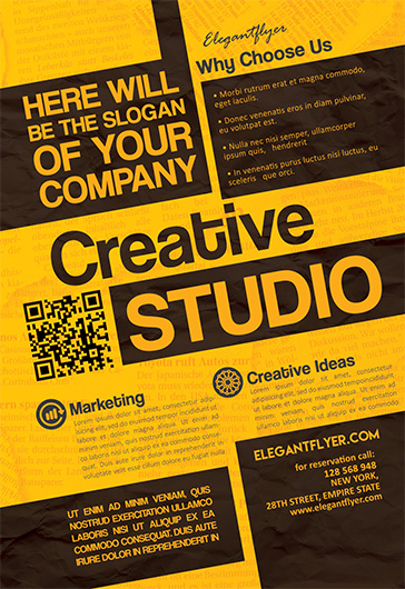 Creative Studio – Flyer PSD Template