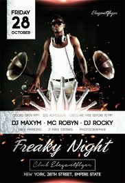 Freaky Night – Flyer PSD Template + Facebook Cover