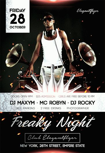 Freaky Night – Flyer PSD Template
