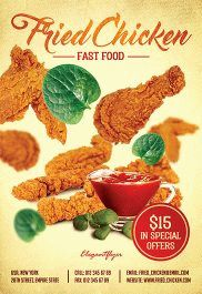 Fried Chicken – Flyer PSD Template + Facebook Cover