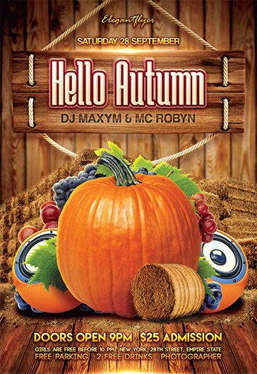Hello Autumn Party – Flyer PSD Template
