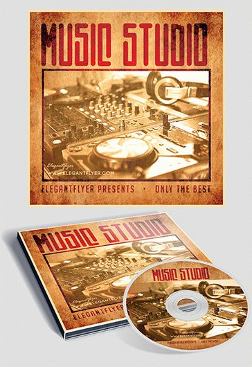 Music Studio – Free CD Cover PSD Template