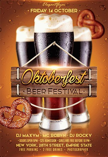 oktoberfest beer festival  u2013 flyer psd template  u2013 by