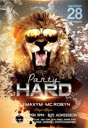 Party Hard – Flyer PSD Template