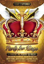 Party for Kings – Flyer PSD Template + Facebook Cover