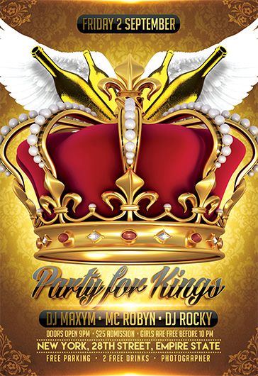 Smallpreview_Party_for_Kings_flyer_psd_template_facebook_cover