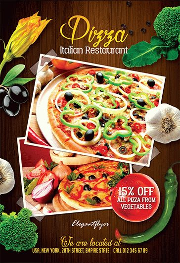 Restaurant Menu – Flyer PSD Template + Facebook Cover