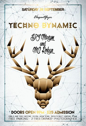 Techno Dynamic – Flyer PSD Template