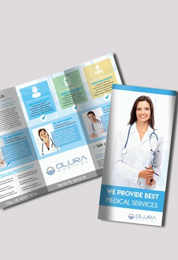 Medical  Free TriFold Psd Brochure Template  By Elegantflyer