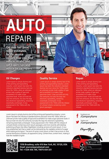Auto Repair – Flyer PSD Template