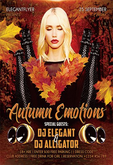 Autumn Emotions – Free Flyer PSD Template + Facebook Cover