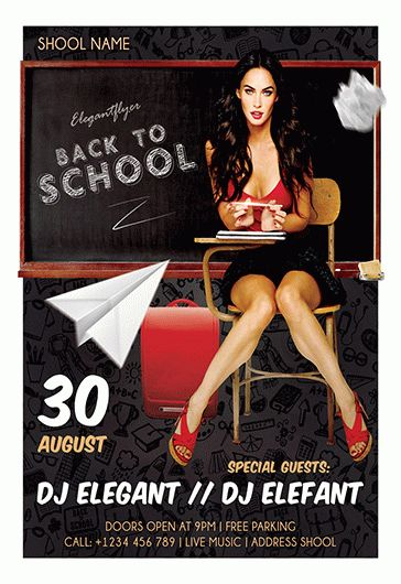 back to school sexy flyer  u2013 by elegantflyer