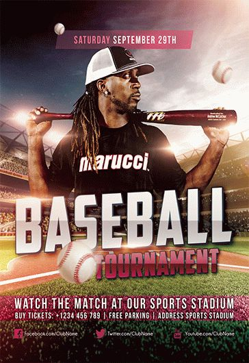 Baseball – Flyer PSD Template + Facebook Cover