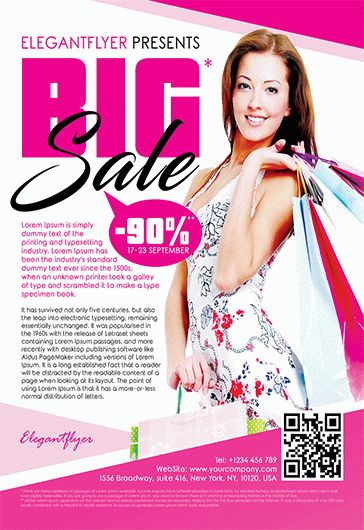 Discount Outlet – Flyer PSD Template + Facebook Cover